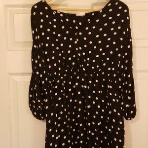 Maternity dress black & white Polk a Dot
